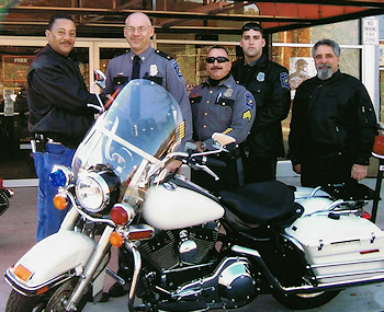 Manchester Police Motorcycle Unit Harley Donation